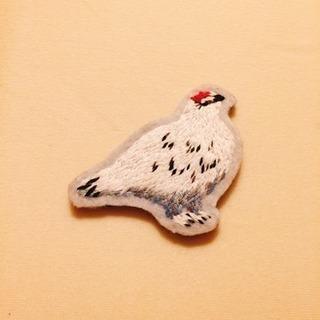 更にお値下げしました!【未使用品】可愛い刺繍の鳥のブローチ