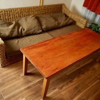 【引き取りのみ】テーブル ウッドテーブル アジアン風