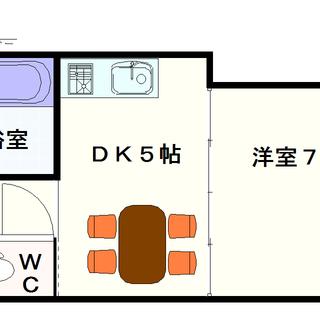 【レインボーコートパートⅢ】1DKタイプ!全て南向きのお部屋で構成...