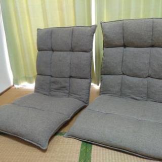 【取引成立済】ニトリ多段階リクライニング座椅子、2脚