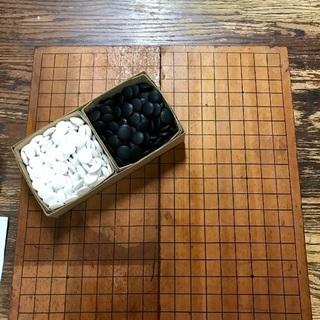 中古の囲碁盤と碁石