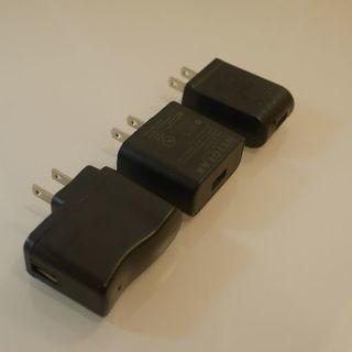 USBチャージャー 充電用 プラグ 電源アダプター 中古3点セット