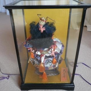 鍾馗 ガラスケース付  五月人形  日本人形 久月 指先欠けあり