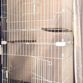 猫用ゲージ 2段 キャットスリム