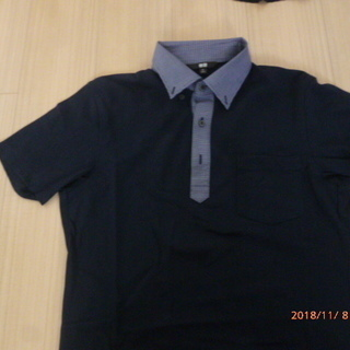 UNIQLO クレリックBD ポロシャツ 紺 Mサイズ