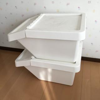 【2個セット】IKEA ゴミ箱 (収納コンテナとしても使えます)