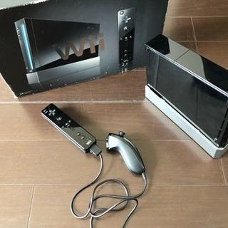 Wii ブラック 本体 リモコン ヌンチャク 付属