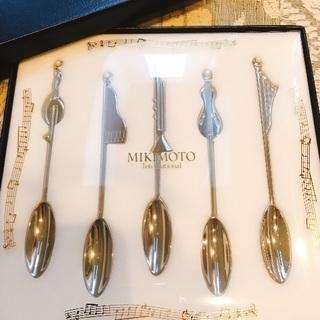 【新品未使用】mikimoto 音符スプーンセット