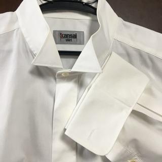 ☆新古品☆kansaiウィングカラーシャツ白メンズ M〜L