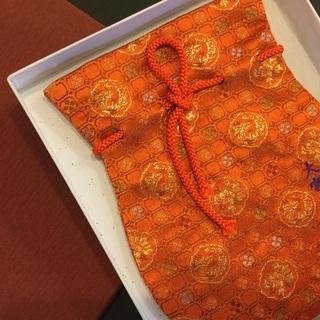 大宮八幡宮 絹の巾着袋