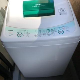 [受取終了] 0円 洗濯機 / TOSHIBA 7kg 2009年製