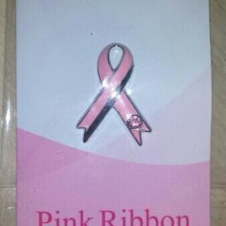 新品 Pink Ribbon ピンクリボン♪ストーン ピンバッジ...