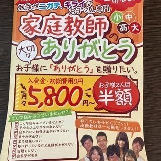 家庭教師のパンフレット設置作業