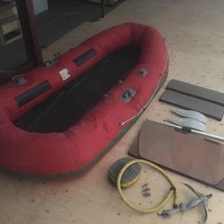取引成立の為一時停止、アキレス製4人乗りゴムボート(釣り用)
