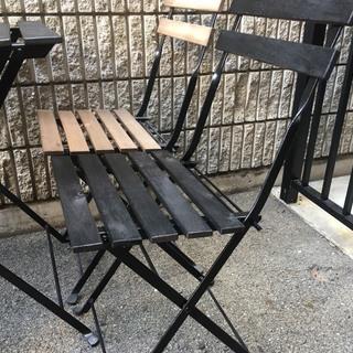 ★【中古】屋外用テーブル 椅子 5点セット IKEA テルノー アウトドア - 大阪市