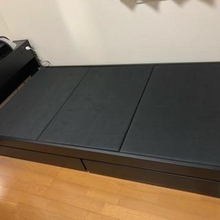 収納付きシングルベッドの画像