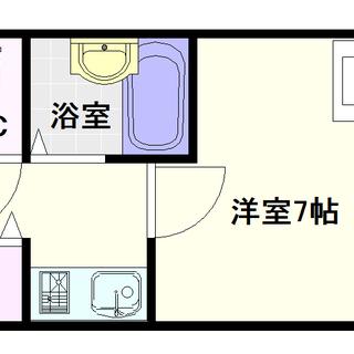【大国町青山ビル別館】1Kタイプ!やっぱり室内洗濯機置き場って重要☆