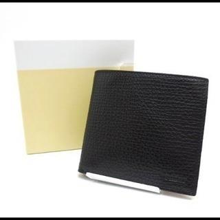 【美品】BALLY バリー レザー メンズ 二つ折り財布 黒