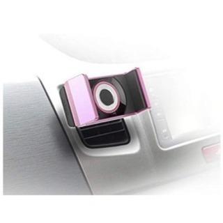 車のスマホホルダー(ピンク) - 車のパーツ