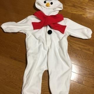 クリスマス 雪だるま 着ぐるみ110cm