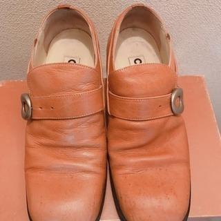 値下げ▼本革、CLONE、ベージュ、イタリア、メンズ、靴、豊中市