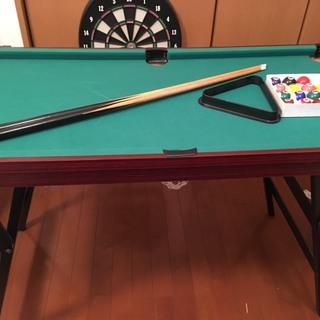 おもちゃ ミニビリヤード台/卓球台 引き取り限定