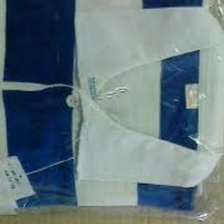 ラグビーシャツS(青×白)