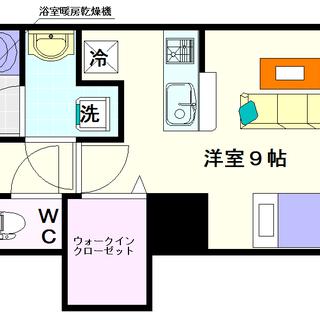 【I Cube 日本橋東】2号タイプ!1Rタイプ!アルソックに入...