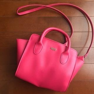 美品♡AHKAH ピンクショルダーバッグ