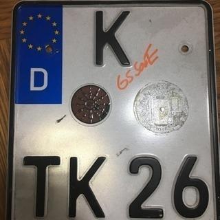 入手困難! 本物! EUナンバープレート K TK26