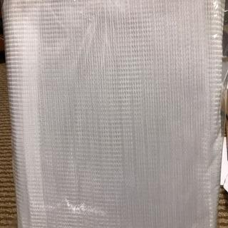 格子のレースカーテン  新品2枚入