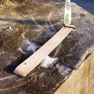 段差解消用のゴム(高さ2センチ、幅約80㎝) 丈夫で重さがあります。