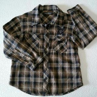 子供服 チェックシャツ 長袖 綿100%