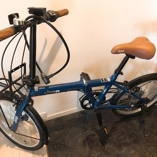 JEEP折り畳み自転車 鍵付き 防犯登録済