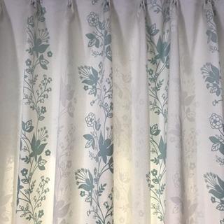 遮光2級 洗えるカーテン二枚組 大