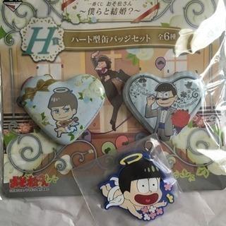 おそ松さん カラ松 缶バッチ 十四松 ラバーマスコット