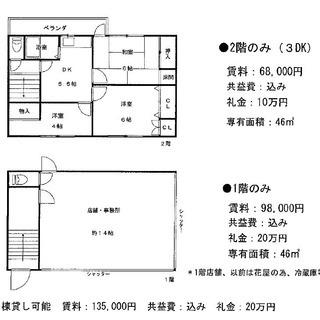 【尾浜町】住宅3DK(建物内に店舗事務所空き室あり)家賃値…