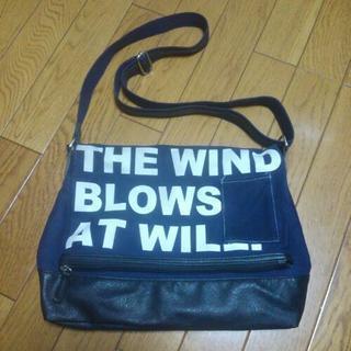 デニム地風ショルダーバッグ