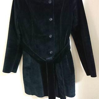 コムサイズム黒コート/レディースLサイズ極暖美品