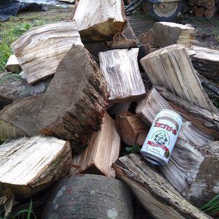 広葉樹ミックス切り落とし系薪!1年程度乾燥(半乾燥)。0.1立米...