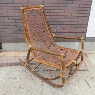 ロッキングチェア 木製 座面は網式 アンティーク オシャレなレトロ...