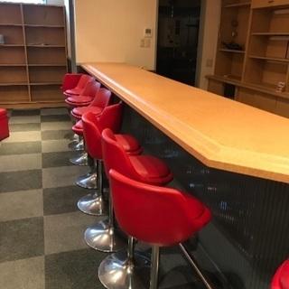 店舗用ソファ、机、カウンターチェア...