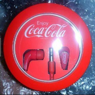 コカ・コーラ ロゴ入りイヤフォン