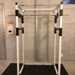 パワーラック、シャフト10Kg、重り100kg分、ダンベル×2(1...