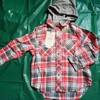 ☆新品☆ フード付きネルシャツ 110 米国アパレル
