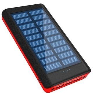 新品 ソーラーチャージャー モバイルバッテリー 超大容量 2400...