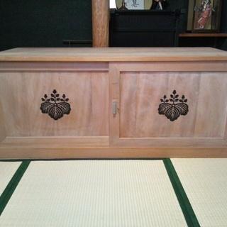 【希少品】ふとんも入る桐の大容量収納ケース・木箱