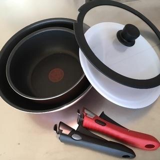ガス専用 T-fal 中華鍋、ソースパン