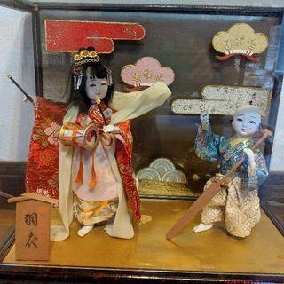 日本人形「羽衣」ガラスケース、無料で差し上げます。