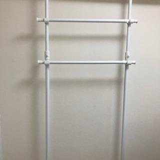 取付簡単窓枠突っ張り物干し 伸縮竿2本付き